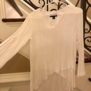 Karen Kane crinkle gauze blouse, size M